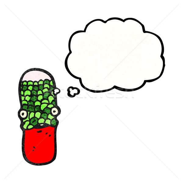 Cartoon медицинской таблетки ретро текстуры изолированный Сток-фото © lineartestpilot