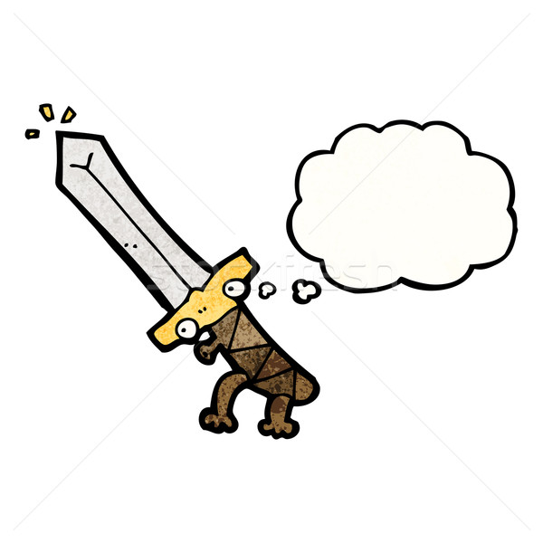 magic sword cartoon Stock photo © lineartestpilot