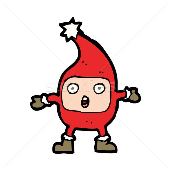 Cartoon смешные Рождества тварь стороны дизайна Сток-фото © lineartestpilot