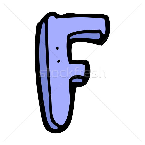 cartoon letter F Stock photo © lineartestpilot