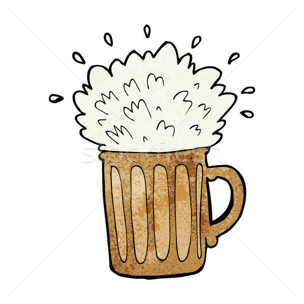 cartoon frothy beer Stock photo © lineartestpilot