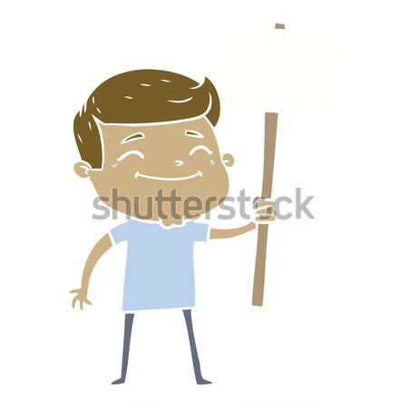 cartoon angry old man in patched clothing Stock photo © lineartestpilot