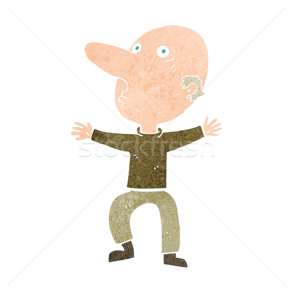 Rajz aggódó középkorú férfi kéz férfi terv Stock fotó © lineartestpilot