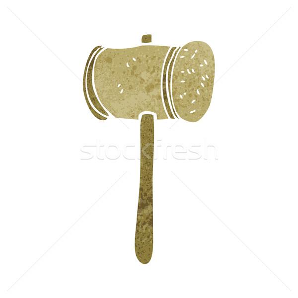 cartoon wooden hammer Stock photo © lineartestpilot