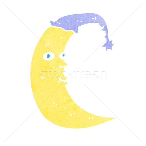 Assonnato luna cartoon mano design sonno Foto d'archivio © lineartestpilot