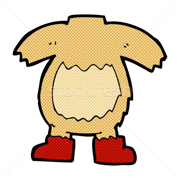 Cômico desenho animado ursinho de pelúcia corpo combinar Foto stock © lineartestpilot