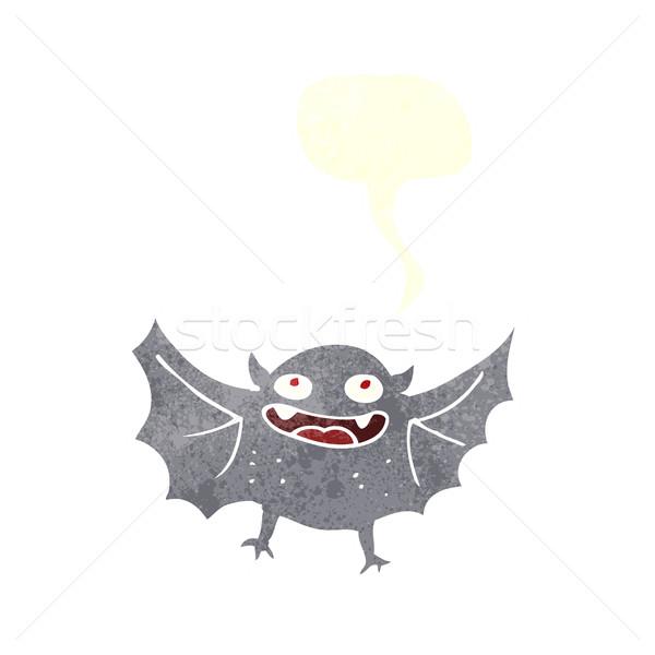 Cartoon vampire bat bulle main design Photo stock © lineartestpilot