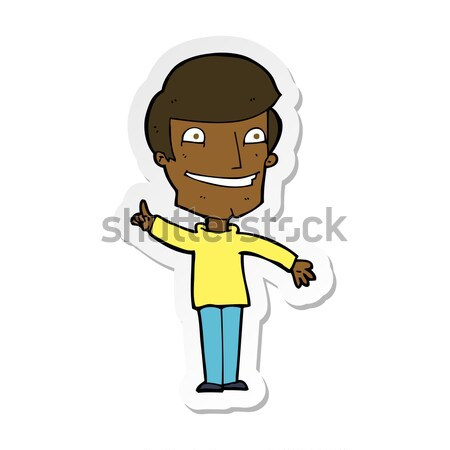 comic cartoon grinning man with idea Stock photo © lineartestpilot