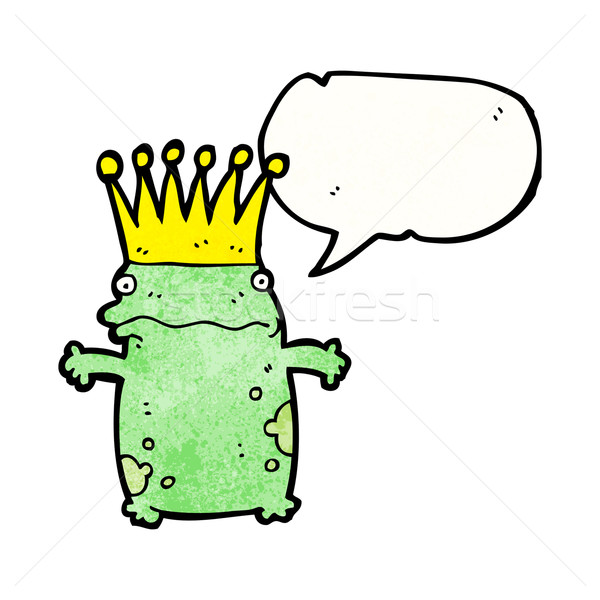 frog prince cartoon Stock photo © lineartestpilot