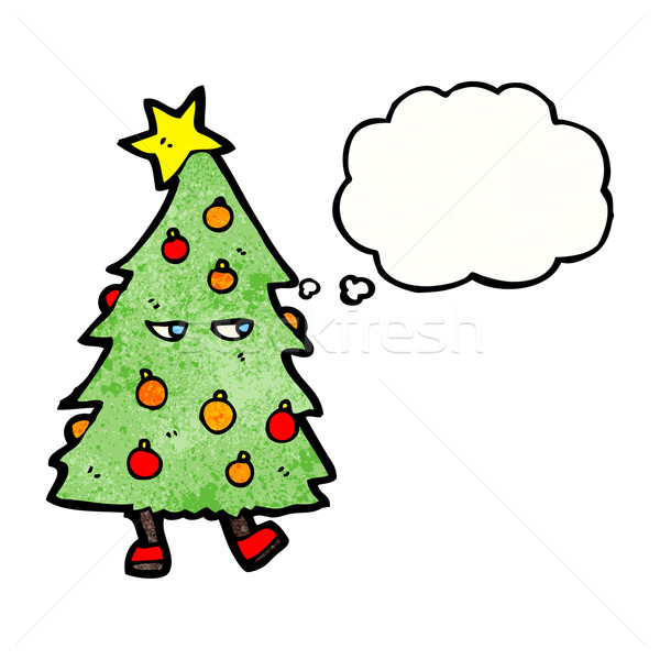 christmas tree costume cartoon Stock photo © lineartestpilot