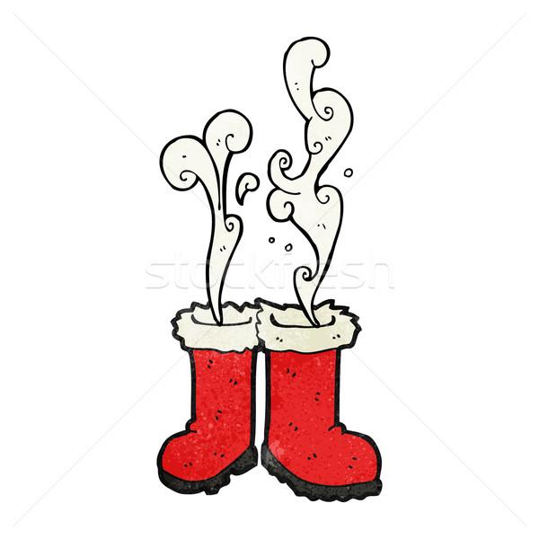 smoking santa boots  Stock photo © lineartestpilot