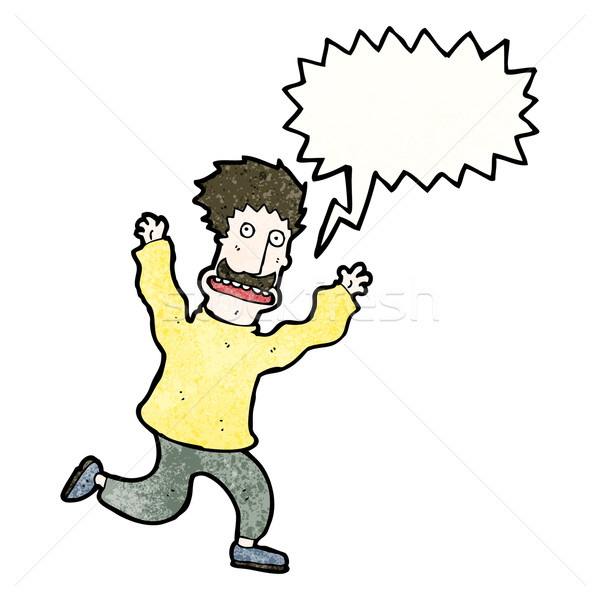 terrified man cartoon Stock photo © lineartestpilot