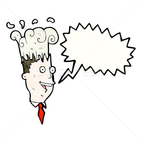 cartoon exploding head man Stock photo © lineartestpilot