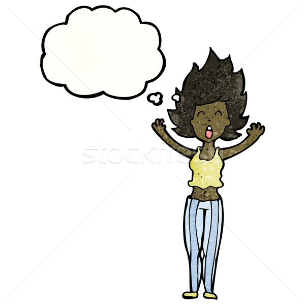 cartoon woman having nightmare Stock photo © lineartestpilot