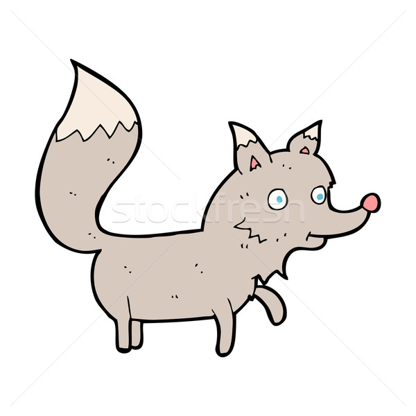 漫画 オオカミ カブ デザイン 芸術 レトロな ストックフォト © lineartestpilot