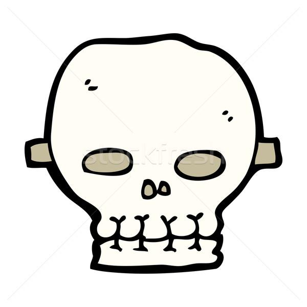 cartoon spooky skull mask Stock photo © lineartestpilot