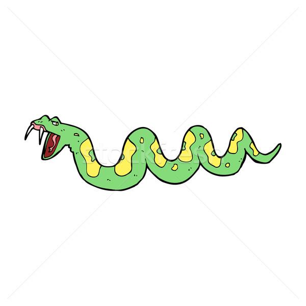 Cartoon trujący węża strony projektu crazy Zdjęcia stock © lineartestpilot