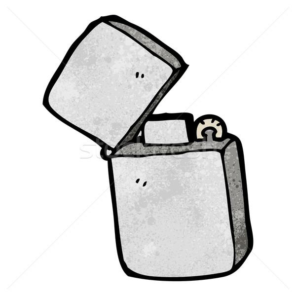 Desenho animado metal isqueiro projeto arte retro Foto stock © lineartestpilot