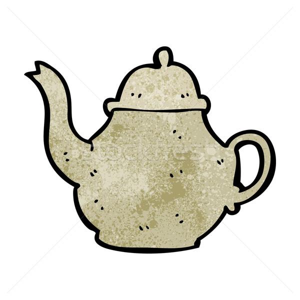 Karikatür demlik dizayn sanat çay Retro Stok fotoğraf © lineartestpilot