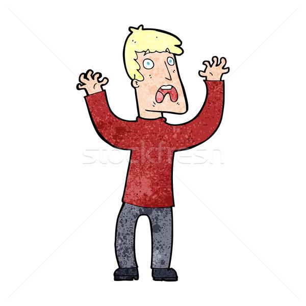 Cartoon bange man ontwerp kunst retro Stockfoto © lineartestpilot