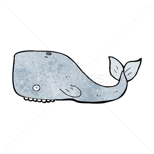 Desenho animado baleia projeto arte retro engraçado Foto stock © lineartestpilot