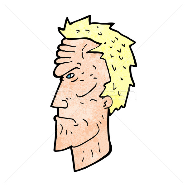 cartoon angry face Stock photo © lineartestpilot