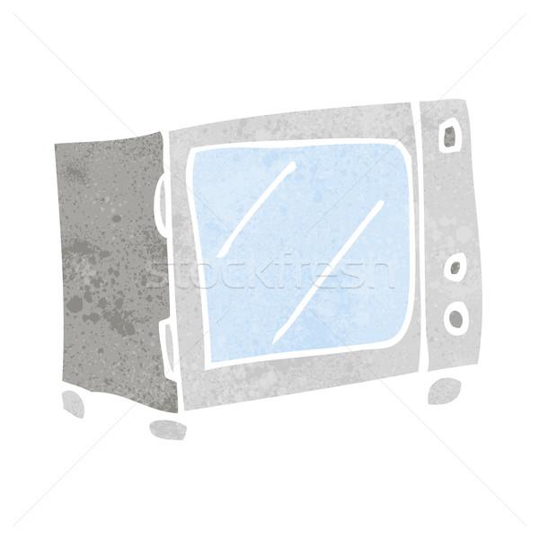 Karikatür mikrodalga dizayn sanat Retro komik Stok fotoğraf © lineartestpilot