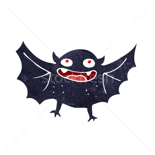 Desenho animado vampiro bat projeto arte retro Foto stock © lineartestpilot