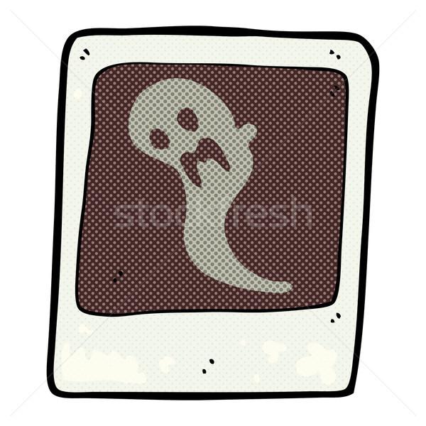 Сток-фото: комического · Cartoon · Ghost · фотография · ретро