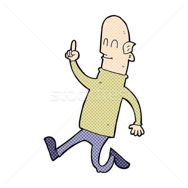 Dessinées cartoon chauve homme idée rétro Photo stock © lineartestpilot