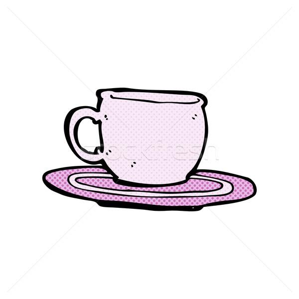 コミック 漫画 茶碗 レトロな スタイル ストックフォト © lineartestpilot