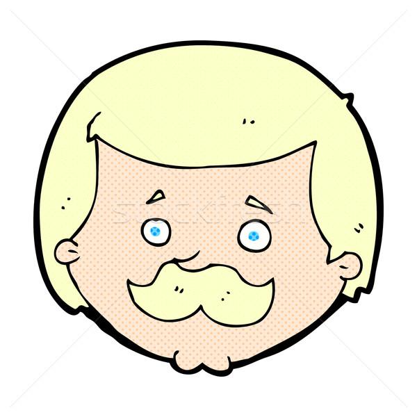 Dessinées cartoon homme moustache rétro Photo stock © lineartestpilot