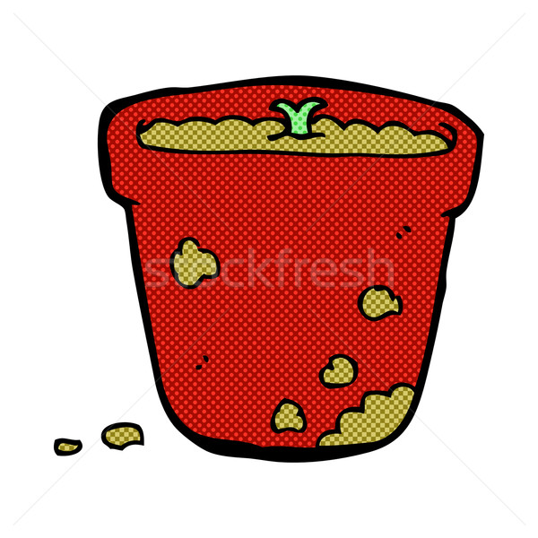 comic cartoon flower pot Stock photo © lineartestpilot