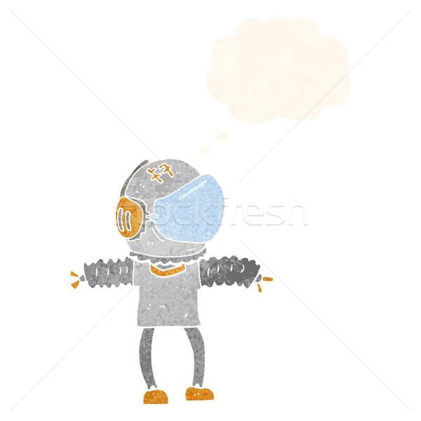 漫画 宇宙飛行士 思考バブル 手 デザイン 芸術 ストックフォト © lineartestpilot