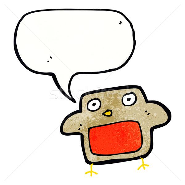 cartoon robin with speech bubble Stock photo © lineartestpilot