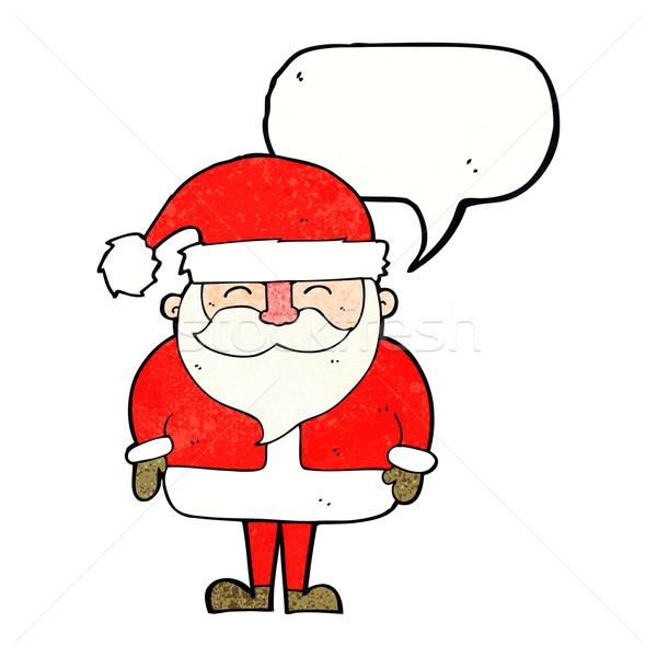 cartoon santa claus with speech bubble Stock photo © lineartestpilot