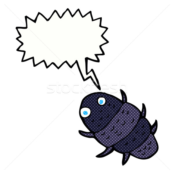 cartoon bug with speech bubble Stock photo © lineartestpilot