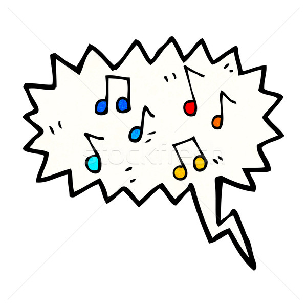 musical notes cartoon Stock photo © lineartestpilot