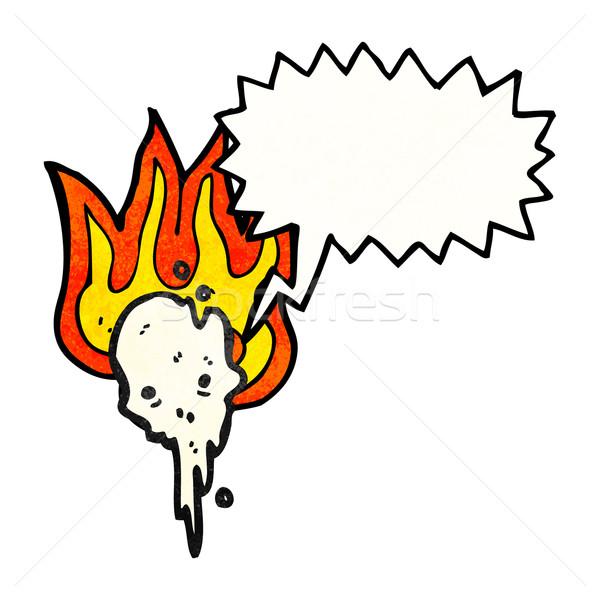 cartoon gross melting skull Stock photo © lineartestpilot