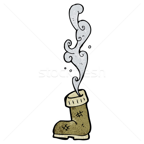 smelly old boot cartoon Stock photo © lineartestpilot