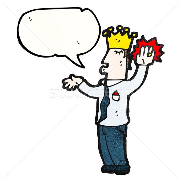 Cartoon prince reale retro corona disegno Foto d'archivio © lineartestpilot