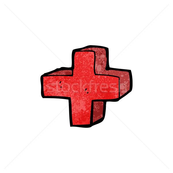 cartoon addition symbol Stock photo © lineartestpilot