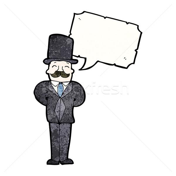 cartoon victorian gentleman Stock photo © lineartestpilot