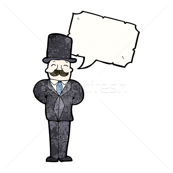 Cartoon джентльмен искусства ретро рисунок мужчины Сток-фото © lineartestpilot
