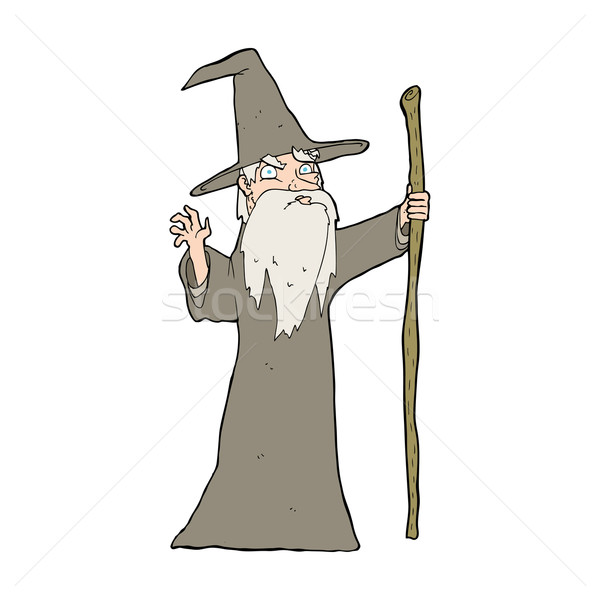 cartoon old wizard Stock photo © lineartestpilot