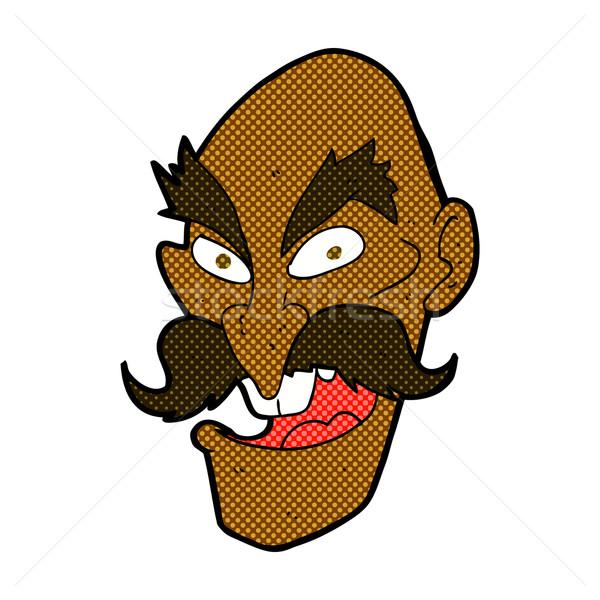 comic cartoon evil old man face Stock photo © lineartestpilot
