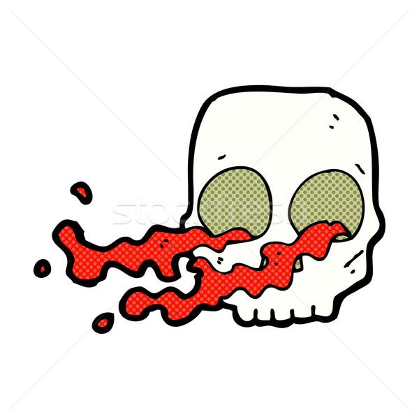 comic cartoon gross skull Stock photo © lineartestpilot