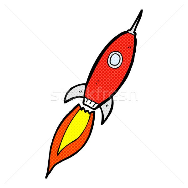 Komiks cartoon statek kosmiczny retro komiks stylu Zdjęcia stock © lineartestpilot