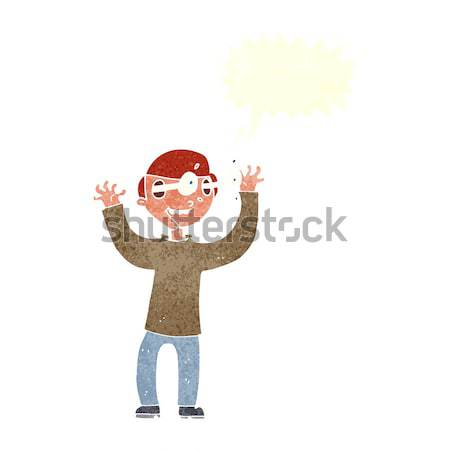 cartoon man with eyes popping out of head with thought bubble Stock photo © lineartestpilot