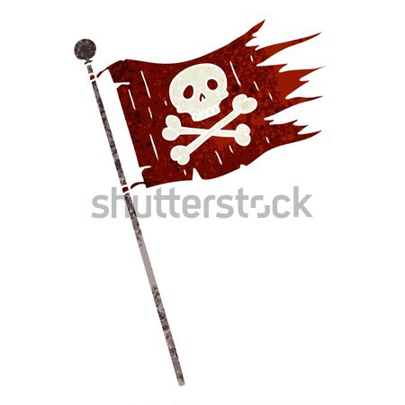 cartoon spooky halloween skull with thought bubble Stock photo © lineartestpilot